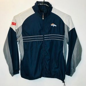 NFL Denver Broncos Windbreaker Jacket Full Zip L